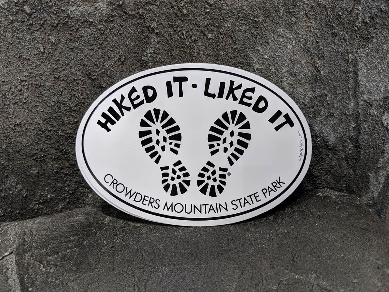 """Hiked It"" Sticker"